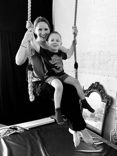 Aren't these two just the cutest? Sharing some special mum & son bonding time on the trapeze at Jugglebugs playgroup Sons, Student, Cute, Kawaii, My Son, Clam
