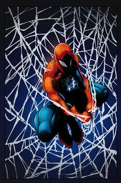 Spiderman Hanging By A Tread by krissthebliss