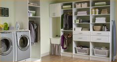 Clean Basement Laundry Room Ideas with Tidy Arrangements : Elegant Laundry Room Design Laundry Room Shelves, Laundry Room Cabinets, Basement Laundry, Laundry Storage, Laundry Room Organization, Laundry Room Design, Laundry Rooms, Organized Basement, Ikea Laundry