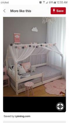Grey and pink toddler room, sweet & simple - Nursery & Kid Decor - Kinderzimmer Baby Bedroom, Girls Bedroom, Bedroom Decor, Modern Bedroom, Master Bedroom, Teenage Girl Bedrooms, Little Girl Rooms, Teenage Room, Toddler Canopy Bed