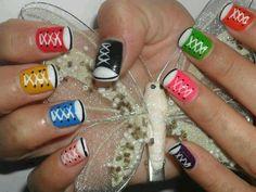 Converse nails so cute
