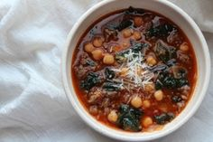 Garbanzo Bean, Kale and Sausage Soup