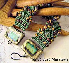 Fiber in Jewelry:  Micro Macrame