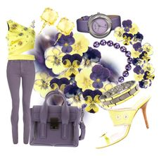 """Farewell To Pansies - Winter's Little Sunflower"" by sharee64 ❤ liked on Polyvore featuring Simplify, Chanel, 3.1 Phillip Lim, dVb Victoria Beckham, FAUSTO PUGLISI, Suzanne Kalan, Michael Kors and BillyTheTree"