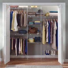 Closetmaid Configurations Custom Closet Organizer Shelf Hanger Kit White NEW White Closet, Tiny Closet, Closet Space, Closet Shelves, Closet Storage, Storage Rack, Wardrobe Storage, Wardrobe Closet, Open Shelves