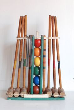 Vintage Croquet Set by thevintagetreehouse on Etsy, $89.50