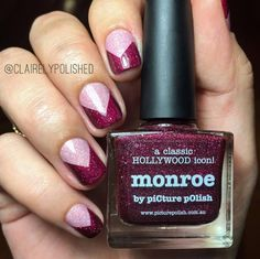 Picture Polish - Monroe and Grace. Hollywood Icons, Classic Hollywood, Picture Polish, Manicure, Nails, Chevron, My Design, Nail Polish, French