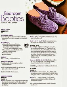 "Photo from album ""Hooked on Crochet! Slippers"" on Yandex. Knit Slippers Free Pattern, Baby Booties Knitting Pattern, Crochet Slipper Pattern, Dishcloth Knitting Patterns, Crochet Dishcloths, Crochet Shoes, Knitting Socks, Baby Knitting, Free Knitting"
