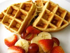 Organic Belgian Waffle Recipe (Gluten Free & Grain Free)  {I'm going to try substituting honey for the syrup}