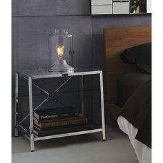 harvey chrome nightstand  | CB2