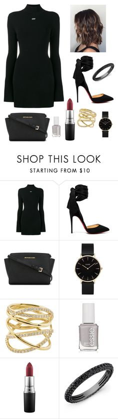 """""""OFF WHITE"""" by soulmate-goals ❤ liked on Polyvore featuring Off-White, Christian Louboutin, MICHAEL Michael Kors, CLUSE, Lana, Essie and MAC Cosmetics"""