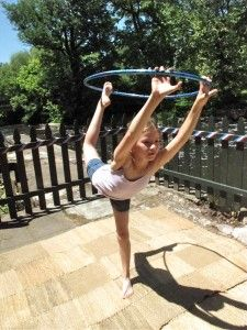 yoga with a hula hoop :) - my girls are going to have so so so much fun with this once they are old enough!