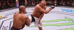 The now infamous back elbow knockout, look for this strike to be thrown more against people in on a single leg.
