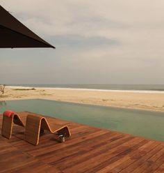Lap Pool Sunken in Beach at Hotel Escondido in Mexico, Remodelista
