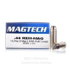 Magtech 44 Magnum Ammo - 50 Rounds of 240 Grain SJSP Ammunition #44Magnum #44MagAmmo #Magtech #MagtechAmmo #Magtech44Mag #SJSP