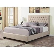 Coaster Furniture 300007Q Chloe Neutral Color Upholstered Queen Bed - Small Image