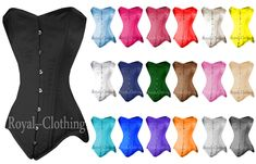 Heavy Duty Double Steel Boned Waist Training Long Line Over Bust Satin Corset. Heavy Duty, Very Strong Fully Steel Boned Corset. The Corset can draw in your waist and flatten your tummy. Royal Clothing, Waist Training, Trainers, Satin, Steel, Corsets, Cotton, Draw, Clothes