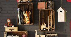 Cajones reciclados como estantes | Estantes/Bookshelve | Pinterest