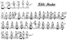 Tekki Shodan - blue belt black tip