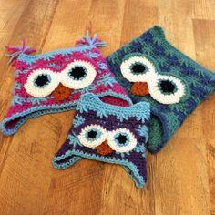 Killian's Owl Hat PDF Crochet Pattern Sizes Newborn to by Mamachee Crochet Kids Hats, Crochet Beanie, Knit Or Crochet, Crochet Crafts, Yarn Crafts, Crochet Clothes, Crochet Baby, Knitted Hats, Yarn Projects