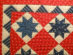 Painted Cotton Crib Quilt c Old Quilts, Star Quilts, Scrappy Quilts, Mini Quilts, Baby Quilts, Crib Quilts, Quilt Blocks, Antique Crib, Antique Quilts