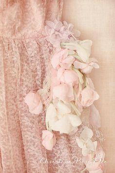 Vintage Pink Lace Rose Spray by Christine Rose Elle  - ☮k☮ #pink