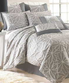 Another great find on #zulily! Taupe Jacquard Kate Comforter Set by Colonial Home Textiles #zulilyfinds