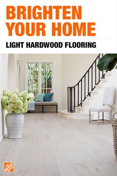 Tips, trends and projects, from hardwood floors to carpet installation and area rugs. Find everything you need to update your flooring at The Home Depot. French Style Homes, Spanish Style Homes, Living Room Flooring, Basement Flooring, Wood Flooring, Light Hardwood Floors, Guest Bedroom Decor, Unique Flooring, Paint Colors For Home
