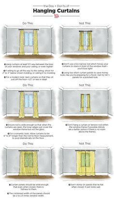 Check out our visual guide to the Dos and Don'ts of curtain hanging so your windows will always be dressed to impress.