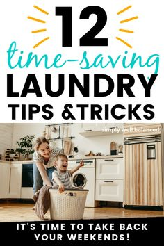 The best laundry tips and tricks I've ever seen. Simple laundry hacks that will save you a ton of time. Learn how to spend less time doing laundry and more time having fun. Laundry tips for families. #laundry #laundryhacks Doing Laundry, Laundry Hacks, Laundry Room, Clean House Schedule, Single Mum, Chores For Kids, Natural Cleaners, House Cleaning Tips, Mom Style