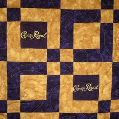 If you've been saving Crown Royal Bags but haven't figured out what to do with them, I have the perfect solution. I can make your Crown Royal Bags into a beautiful keepsake quilt using high quality c… Crown Royal Quilt, Crown Royal Bags, Royal Crowns, Quilt Block Patterns, Pattern Blocks, Quilt Blocks, Panel Quilts, Pattern Ideas, Bag Quilt