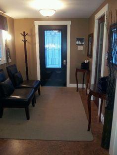 I painted my front door black instead of regular white..from benjamin moore