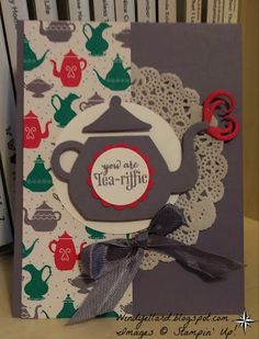 Windy's Wonderful Creations, Stampin' Up!, #GDP021, Have A Cuppa DSP, A Nice Cuppa, Cups & Kettle framelits dies, PP280