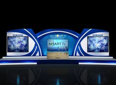 SAMSUNG DESIGNS by MAYUR KUMAR at Coroflot.com Tv Set Design, Stage Set Design, Pop Design, Gate Design, Booth Design, Event Design, Exhibition Stall, Exhibition Stand Design, Stage Backdrop Design
