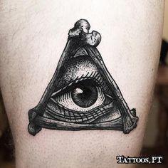 black and white tattoo eye