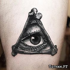 black and white tattoo eye