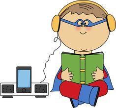 Boy Superhero Listening to a Book Clip Art - Boy Superhero Listening to a Book Image Book Images, Art Images, Teacher Door Decorations, Superhero Images, Book Clip Art, Teacher Doors, Train Of Thought, Young Boys, Young Men