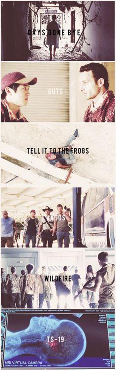 The Walking Dead season 1 episodes.