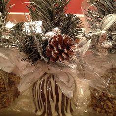 Chocolate caramel apple. Home-made Christmas inspired chocolate caramel apples.  I used them as favors at our Christmas eve party.