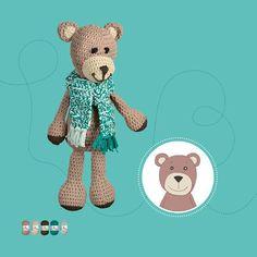Teddybär Felix erlebt in einem neuen Buch aufregende Abenteuer mit seinen Freunden. Wir häkeln uns den Teddybär zum Kuscheln und Liebhaben.