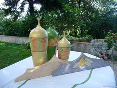 decori con stoffe su ceramica e particolari in legno a(34)