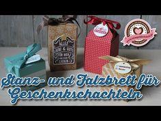 Tutorial: Stanz- und Falzbrett für Geschenkschachteln/Gift Box Punchboard von Stampin' Up! - YouTube
