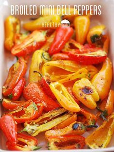 Broiled Mini Bell Peppers