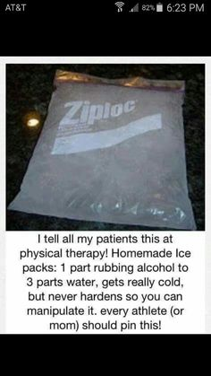 Great tip for all sports / athletes! #Sportdecals #HomemadeIcePack #DIYIcePack