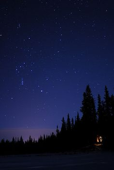 starry sky, glow of the cabin by the lake...feeling life is perfect