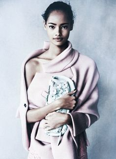 Malaika Firth in Spring Uncovered shot by Patrick Demarchelier for Vogue UK February 2014