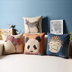free shipping high quality linen Decorative throw pillow cover/Animal portfolio sofa Cushion cover / home Decor pillows cover
