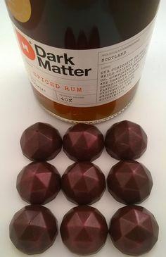 Dark Matter Spiced Scottish Rum in dark chocolate - sensational!