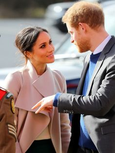Prince Harry and Meghan Markle visit the Eikon Centre in Lisburn