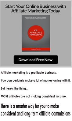 Affiliate marketing is a profitable business. You can certainly make a lot of money online with it. MOST affiliates are not making consistent income. They just set up some ad campaigns, drive traffic to the affiliate offers and make one-time off affiliate commissions. Once they stop setting up ad campaigns, they stop making money online as well. There is nothing wrong about that. But there's a smarter way for you to make consistent and long-term affiliate commissions. Download this Free…